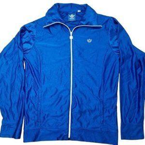 Adidas Trefoil Blue Track Jacket Coat Large